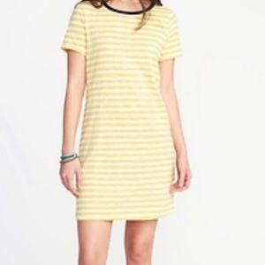 Old Navy | Striped Yellow Ringer T-shirt Dress